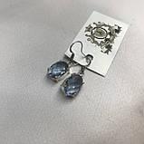 Аквамарин ніжні маленькі сережки з аквамарином в сріблі. Індія, фото 2