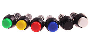 Кнопка - вимикач, трипозиційний, 250 Вт, 15 А, PBS11A 6 контактів, чорний з нейтраллю