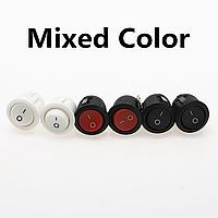 Кнопка - вимикач, двопозиційний, 250 Вт, 6 А, KCD1 105 2 контактів, чорний з нейтраллю