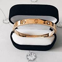 Браслет Cartier Love 16S, 4 камня, Желтое Золото