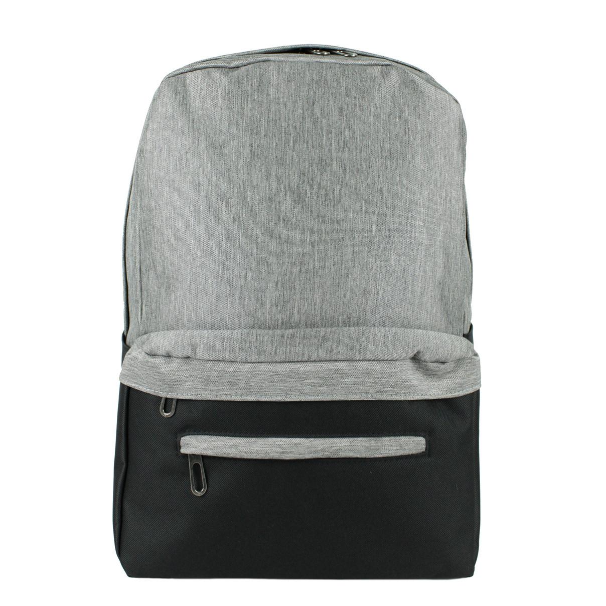 Рюкзак універсальний унісекс сіро-чорний текстиль