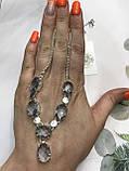 Аквамарин намисто з аквамарином намисто з каменем аквамарин в сріблі Індія, фото 2
