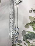 Аквамарин намисто з аквамарином намисто з каменем аквамарин в сріблі Індія, фото 6