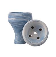 Чаша для кальяна ФОРМА - турка Цунами (голубая)