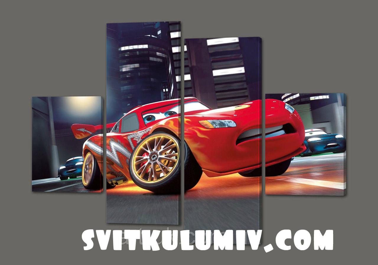 Модульная картина Тачка Маквин 120*93 см Код: 285.4к.120