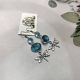 Аквамарин сережки з аквамарином в сріблі. Індія, фото 5