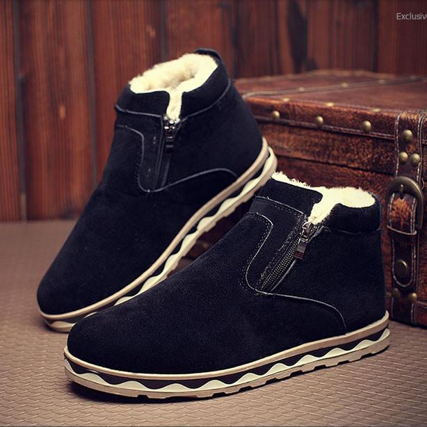 Чоловічі зимові замшеві черевики. Модель 04161