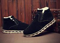 Чоловічі зимові замшеві черевики. Модель 04161, фото 2