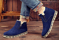 Чоловічі зимові замшеві черевики. Модель 04161, фото 3