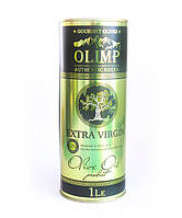 Греческое Оливковое масло качественное настоящее OLIMP Gold Label 1литр в железной банке