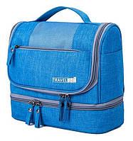 Дорожный органайзер косметичка TRAVEL BAG подвесной раскладной 24 х 20 х 12 см Синий