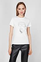 Женская футболка Karl Lagerfeld, белая карл лагерфельд, фото 1