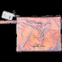 Папка A4 LOVE 33х26х1см голографисккожа розовая