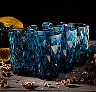 Набор стаканов «Сапфир», 350 мл, 8х7х12,5 см, 6 шт, цвет синий
