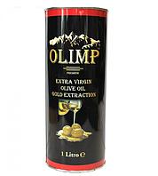 Оливковое масло качественное натуральное вкусное Olimp Extra Virgin 1 литр в жестяной банке