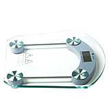 Ваги електронні підлогові портативні Personal Scale 2003B Квадратні прозорі з РК дисплеєм, фото 7