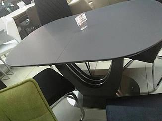 Раздвижной стол ТМL-765-1 матовый серый 120/160 от Vetro Mebel (бесплатная доставка)