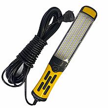 Фонарик для СТО 96 LED с магнитом BL 9096 COB  и работает от 220в кабель 9 метров
