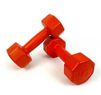 Гантели для фитнеса 1 кг. x 2 шт., композитные