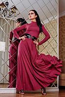 Женское длинное платье Марсала А4 Медини 42-44 размеры