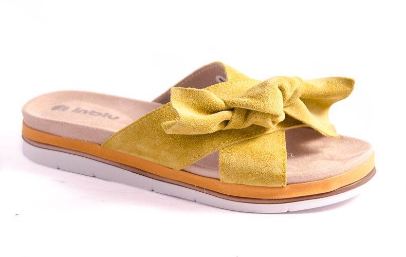 Шлепанцы женские желтые Inblu NB-4E