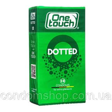 Презервативы One touch  dotted Ван тач точечные точки с пупырышками с точками #12 шт .Премиум класс!