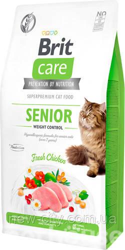 Brit Care Cat GF Senior Weight Control, 7кг (контроль веса д/взрослых котов)