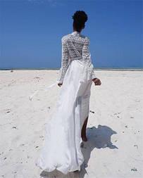 Белая длинная пляжная туника
