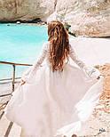 Біла довга туніка пляжна, фото 5