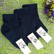 Шкарпетки літні короткі для хлопчика микросетка 18р т. сині 30031520