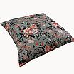 Подушка, 40*40 см, (бавовна), (рожево-коралові букетики на сірому), фото 2