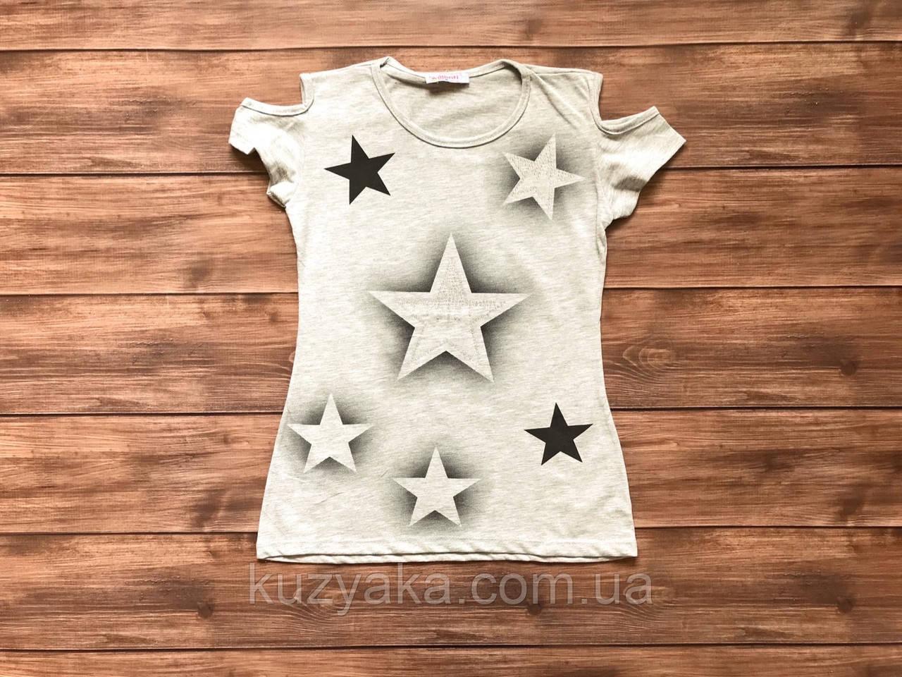 Стильна футболка для дівчинки  підлітка на 14-17 років