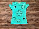 Стильна футболка для дівчинки  підлітка на 14-17 років, фото 2