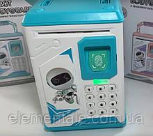 Робот скарбничка robot bodyguard Електронний дитячий сейф іграшка з кодовим замком