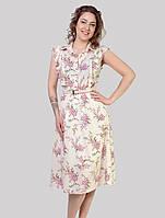 Модне літнє плаття з рюшами і поясом тренд цього сезону