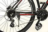 """Велосипед Oskar 29"""" JURA чорно-червоний (29-1806h-rd), фото 4"""
