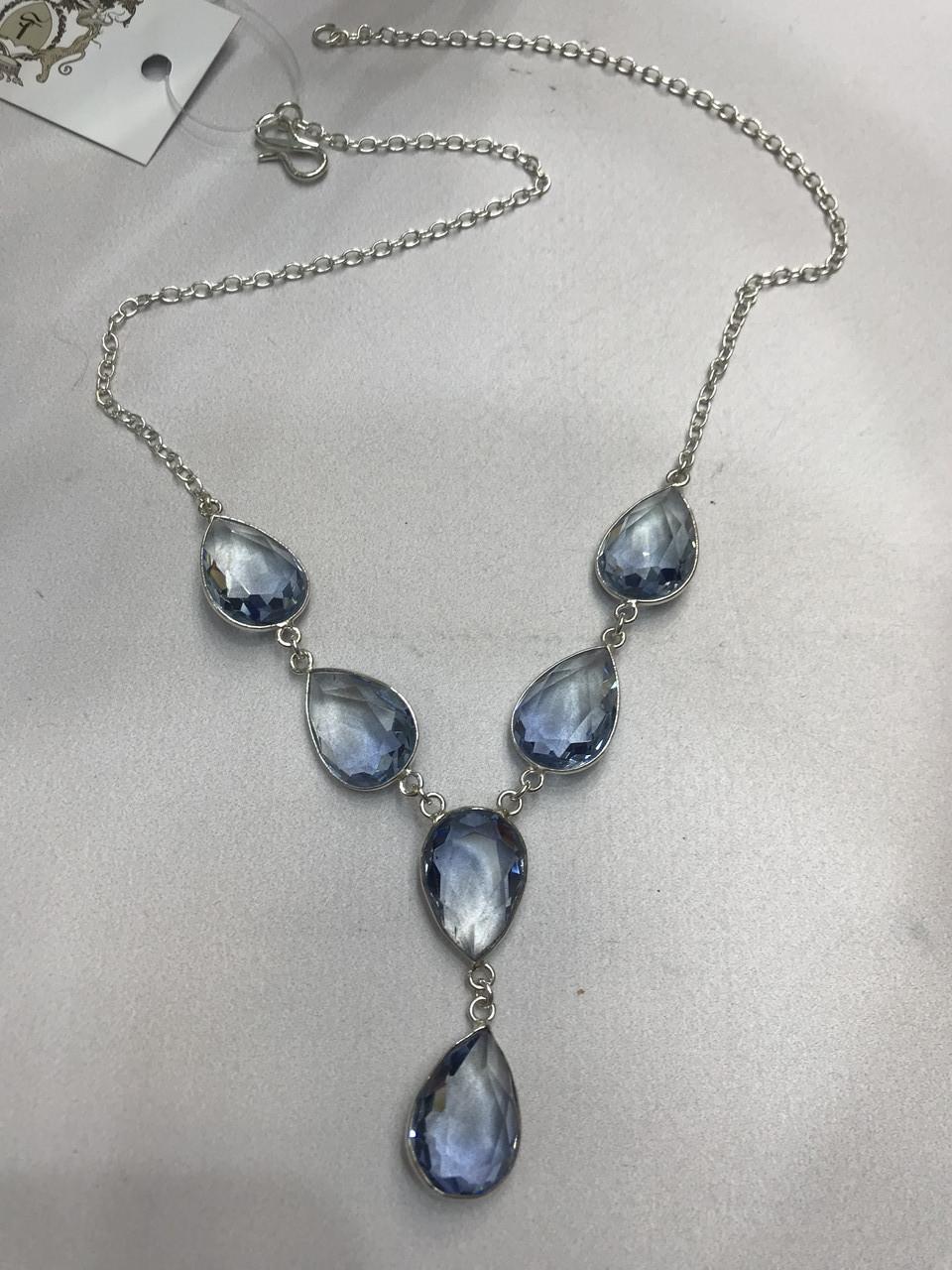 Аквамарин намисто з аквамарином намисто з каменем аквамарин в сріблі Індія