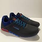 Кросівки чоловічі Adidas р. 41 шкіра Харків темно-сині, фото 2
