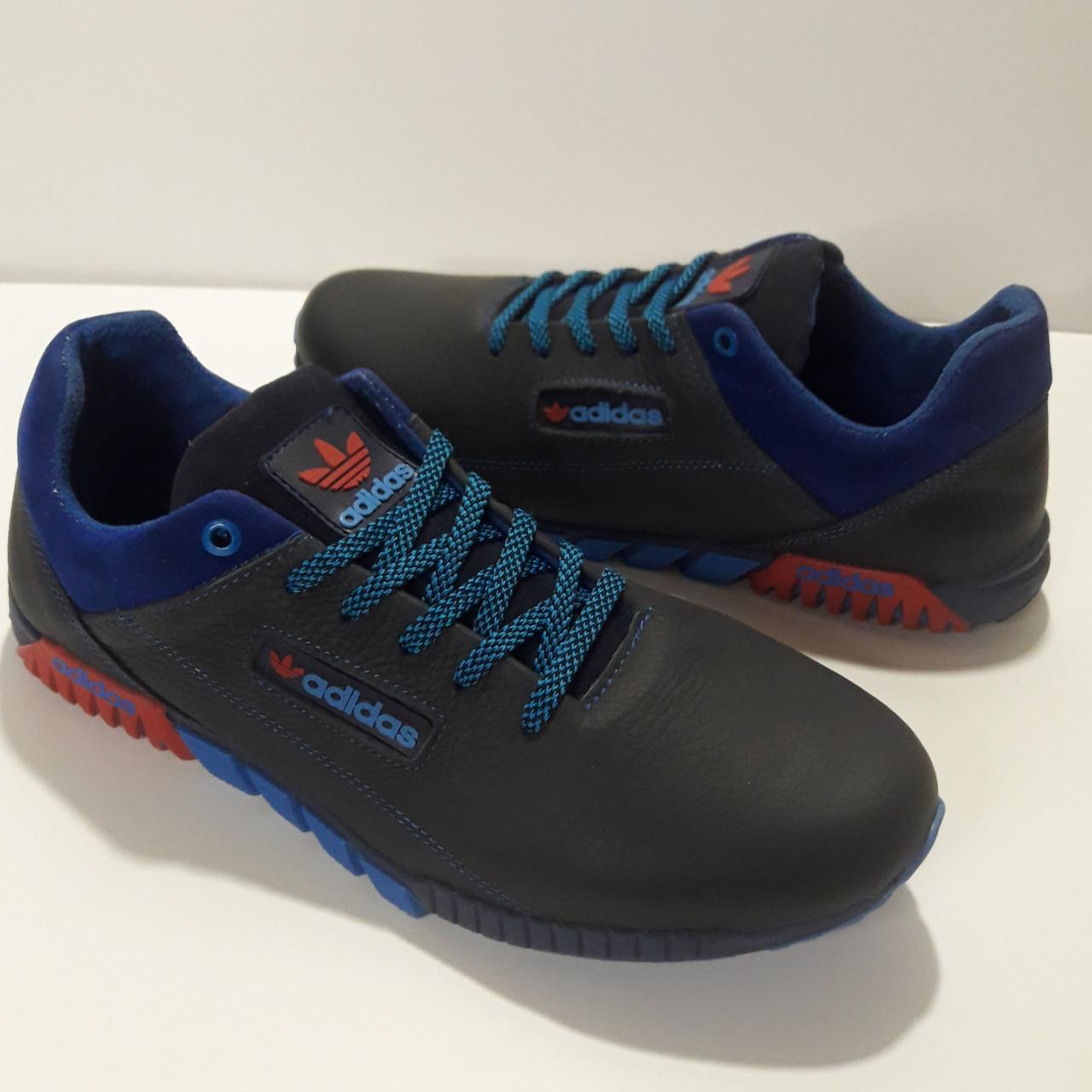 Кросівки чоловічі Adidas р. 41 шкіра Харків темно-сині