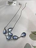 Аквамарин намисто з аквамарином намисто з каменем аквамарин в сріблі Індія, фото 4
