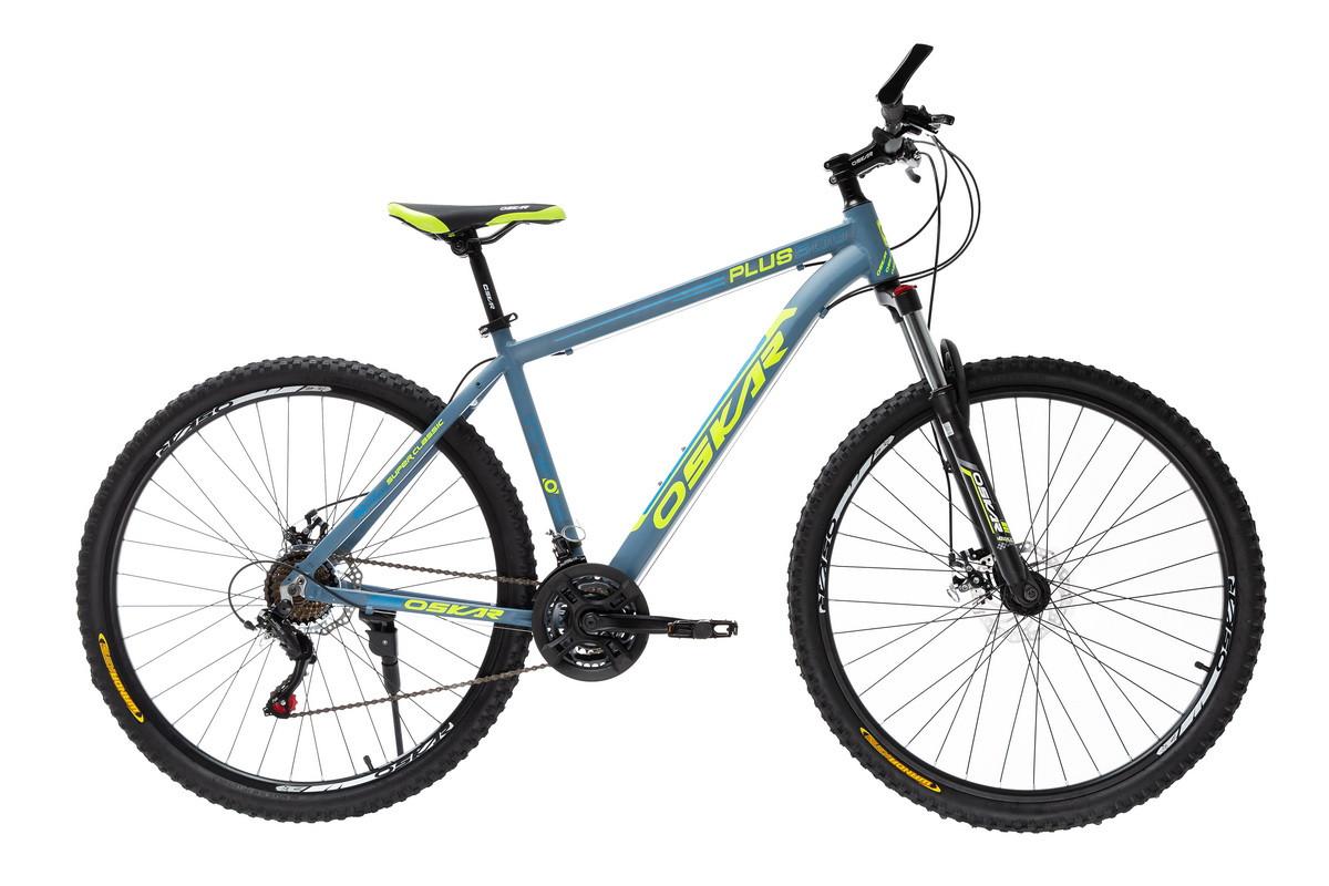 """Велосипед Oskar 26""""Plus 500 сіро-синій (26-16011-gr)"""