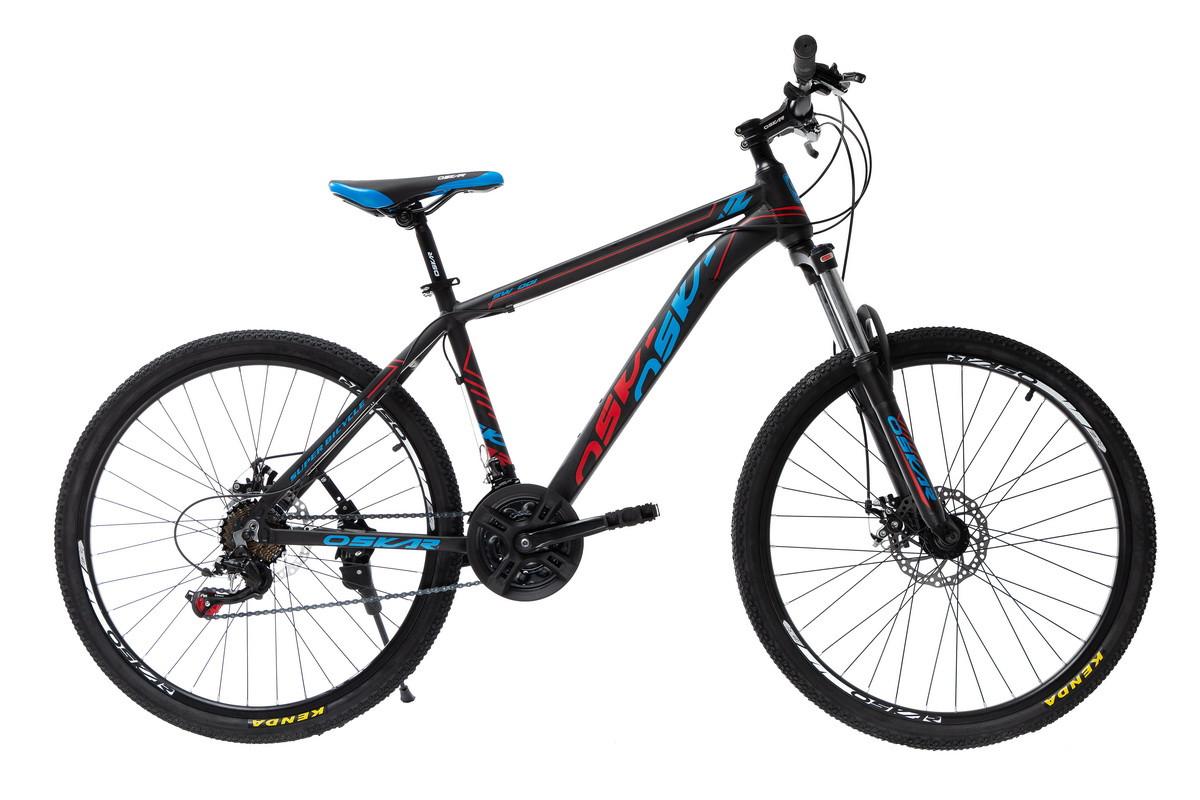 """Велосипед Oskar 26""""SW-001 чорний-червоний-синій (26-1814-br)"""