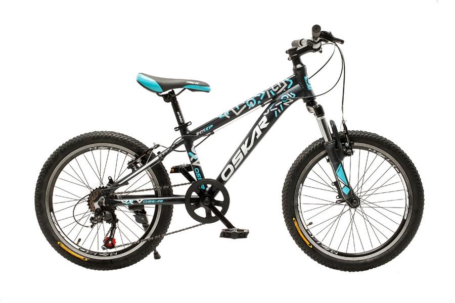 """Велосипед Oskar 20"""" SCARP чорно-блакитний (20-1833-bl)"""