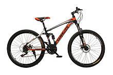 """Велосипед Oskar 26"""" S203 черно-красный (26-s203-bk+rd)"""