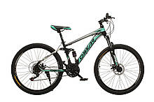 """Велосипед Oskar 26"""" S203 черно-бирюзовый (26-s203-bk+bl)"""
