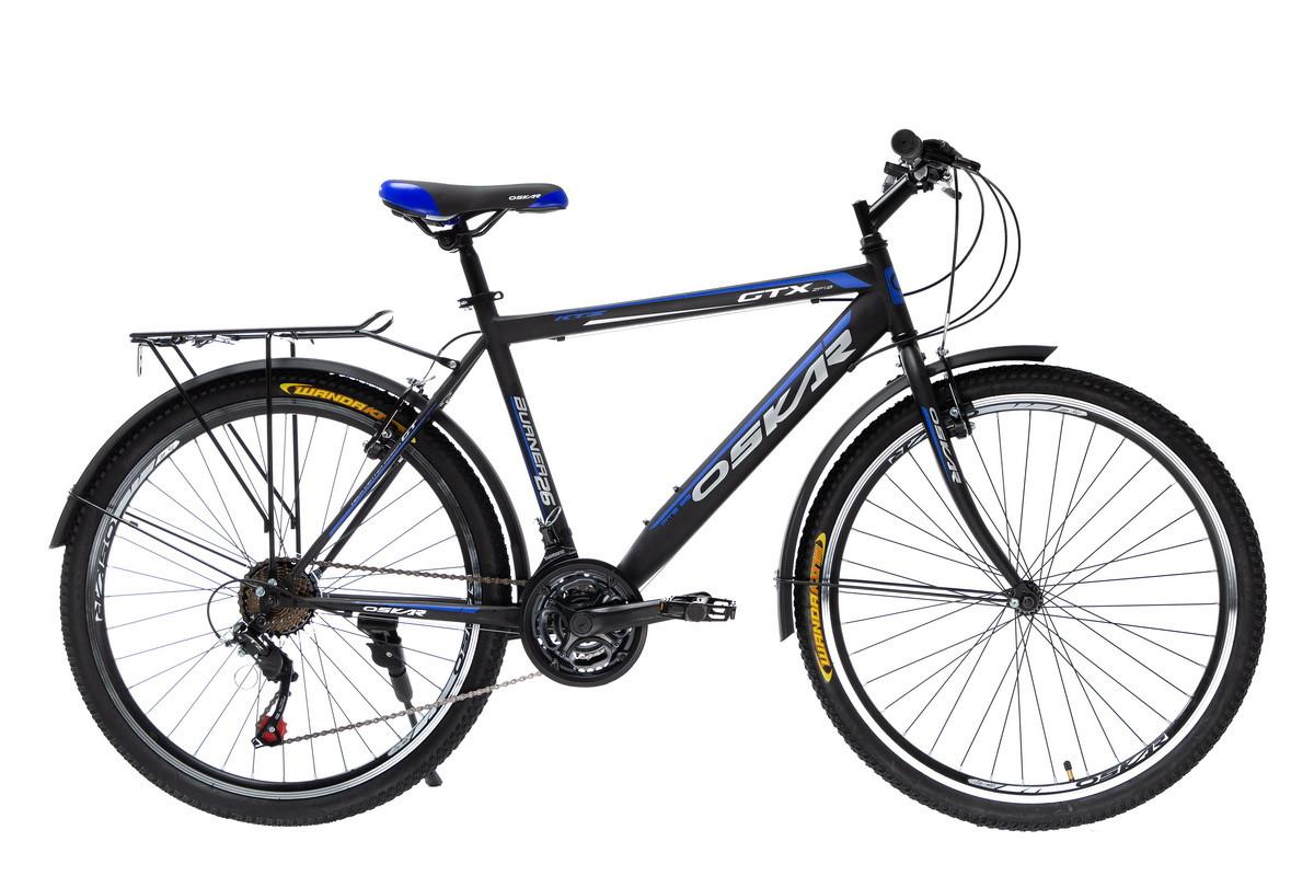 """Велосипед Oskar 26""""GTX чорно-синій (26-1527-bl)"""