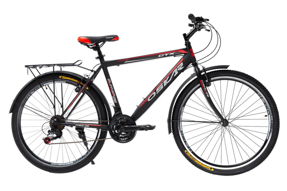 """Велосипед Oskar 26"""" GTX чорно-червоний (26-1527-rd)"""