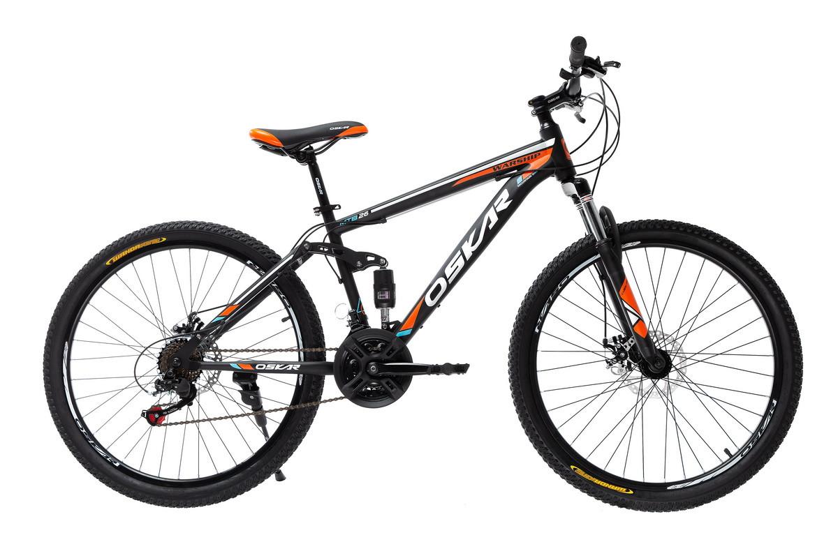 "Велосипед Oskar 26"" WARSHIP чорно-помаранчевий (26-sus1803-or)"