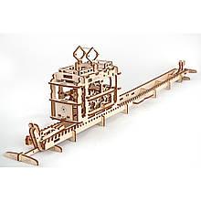 Механічний 3D пазл Трамвай UGears (70008)