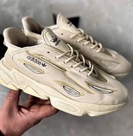 Женские кроссовки Adidas Ozweego Celox beige весна-осень демисезонные бежевые. Фото в живую. Реплика